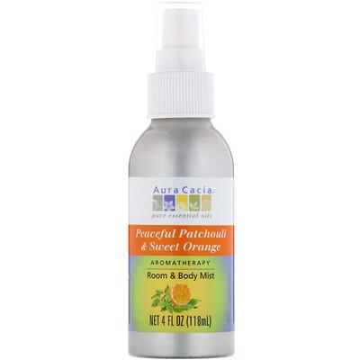 Aromatherapy Room & Body Mist, Peaceful Patchouli Sweet Orange, 4 fl oz (118 ml)