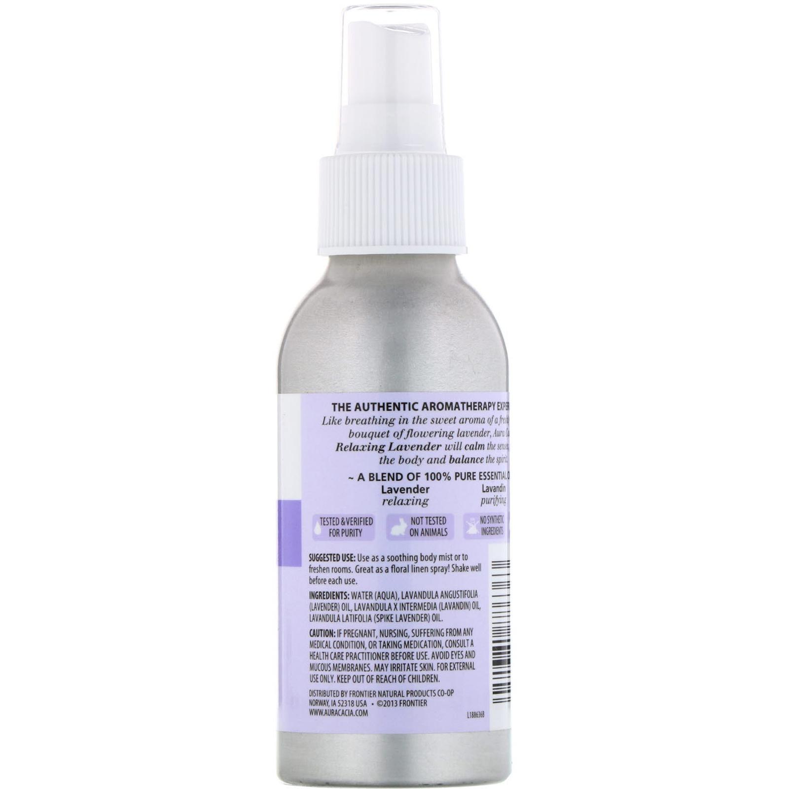 Aura Cacia Aromatherapy Room Body Mist Relaxing Lavender 4 Fl Oz 118 Ml