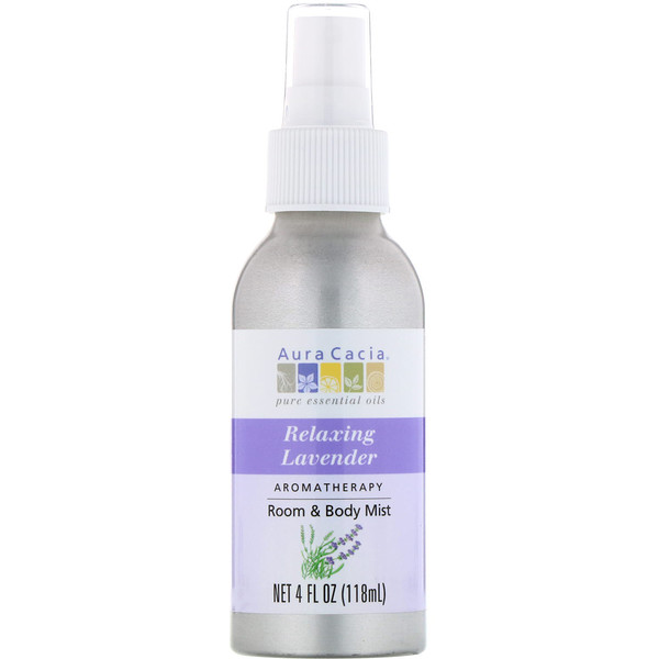 Aromatherapy Room & Body Mist, Relaxing Lavender, 4 fl oz (118 ml)