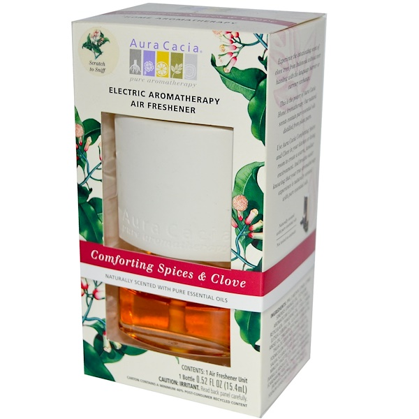 Aura Cacia, Electric Aromatherapy Air Freshener, Comforting Spices & Clove, 1 Air Freshener Unit (Discontinued Item)
