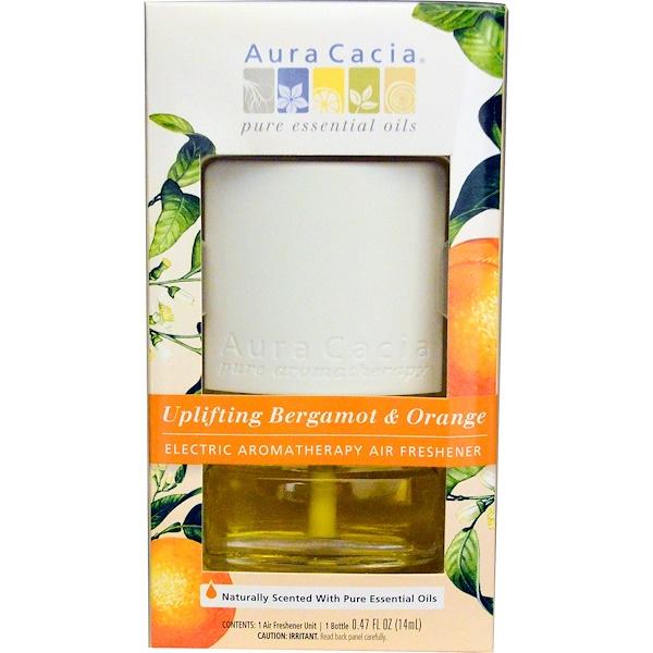 Aura Cacia, Electric Aromatherapy Air Freshener, Uplifting Bergamot & Orange, 0.47 fl oz (14 ml) (Discontinued Item)