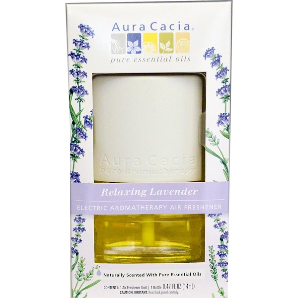 Aura Cacia, Electric Aromatherapy Air Freshener, Relaxing Lavender, 0.47 fl (14 ml) (Discontinued Item)