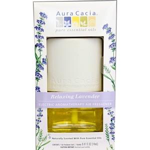 Аура Кация, Electric Aromatherapy Air Freshener, Relaxing Lavender, 0.47 fl (14 ml) отзывы