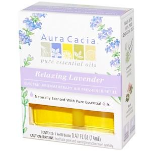 Аура Кация, Electric Aromatherapy Air Freshener Refill, Relaxing Lavender, 0.47 fl oz (14 ml) отзывы