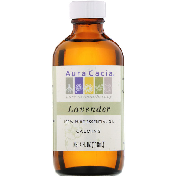 Aura Cacia, 100% Pure Essential Oil, Lavender, 4 fl oz (118 ml)