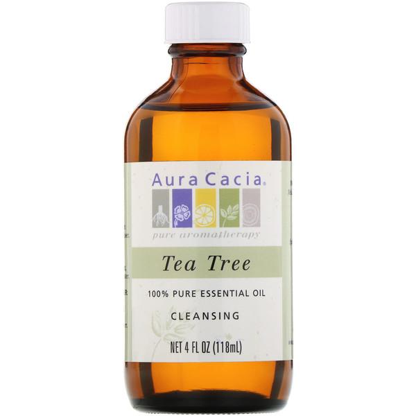 Aura Cacia, 100% Pure Essential Oil, Tea Tree, 4 fl oz (118 ml)