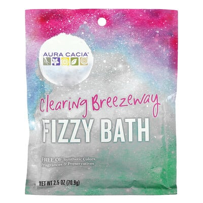 Aura Cacia Fizzy Bath, Clearing Breezeway, 2.5 oz (70.9 g)
