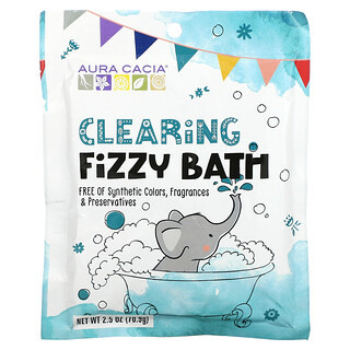 Aura Cacia, Kids, Clearing Fizzy Bath, 2.5 oz (70.9 g)