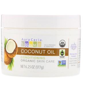 Aura Cacia, Conditioning Organic Skin Care, Coconut Oil, 6.25 oz (177 g)