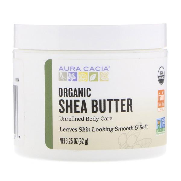 Aura Cacia, Organic Shea Butter, 3、25 oz (92 g)