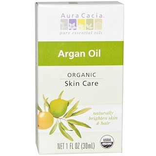 Aura Cacia, Organic, Argan Oil, 1 fl oz (30 ml)