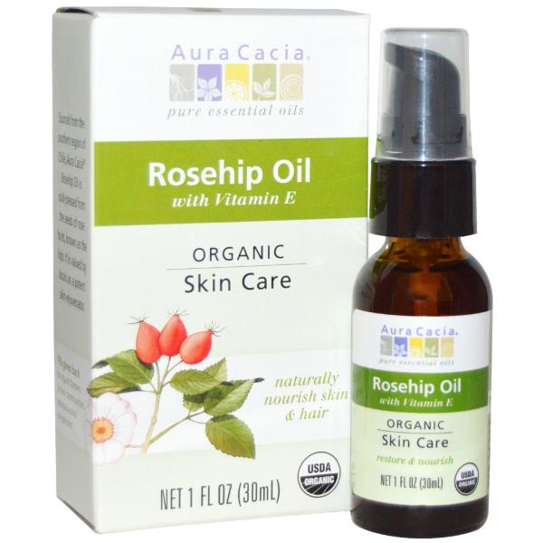Aura Cacia, Organic, Rosehip Oil, Skin Care, 1 fl oz (30 ml)