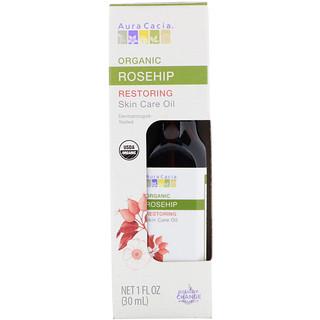 Aura Cacia, Organic Skin Care Oil, Restoring, Rosehip, 1 fl oz (30 ml)