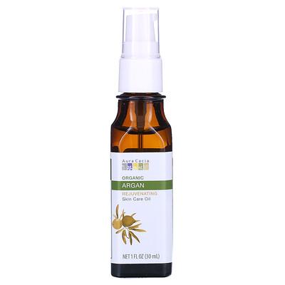 Купить Aura Cacia Органическое уходовое масло для кожи, омолаживающее, аргана, 1 ж. унц. (30 мл)