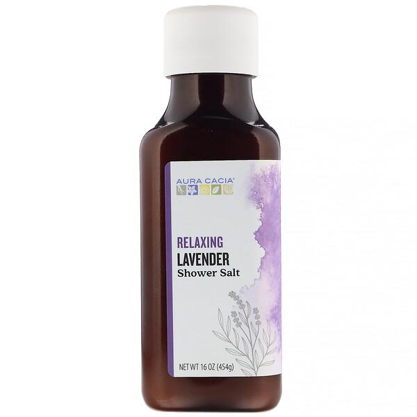 Shower Salt, Relaxing Lavender, 16 oz (454 g)