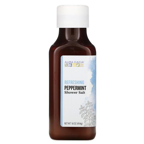 Shower Salt, Refreshing Peppermint, 16 oz (454 g)