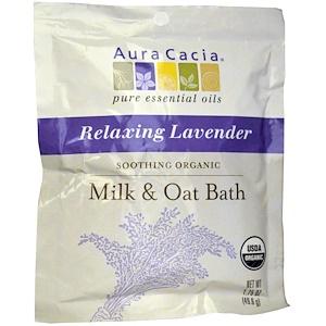 Аура Кация, Soothing Organic Milk & Oat Bath, Relaxing Lavender, 1.75 oz (49.6 g) отзывы покупателей