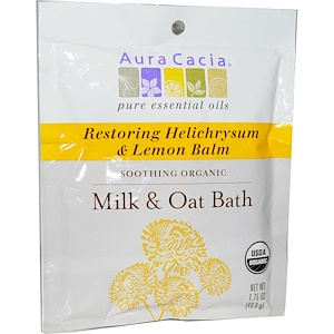 Аура Кация, Organic, Milk & Oat Bath, Restoring Helichrysum & Lemon Balm, 1.75 oz (49.6 g) отзывы