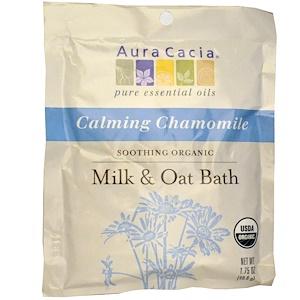 Аура Кация, Soothing Organic Milk & Oat Bath, Calming Chamomile, 1.75 oz (49.6 g) отзывы