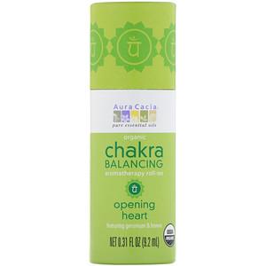 Аура Кация, Organic Chakra Balancing Aromatherapy Roll-On, Opening Heart, 0.31 fl oz (9.2 ml) отзывы покупателей