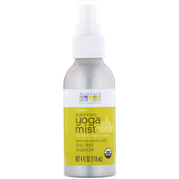 Organic, Yoga Mist, Purifying, Tea Tree & Lemon, 4 fl oz (118 ml)
