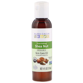 Aura Cacia, Organic, Skin Care Oil, Shea Nut, 4 fl oz (118 ml)
