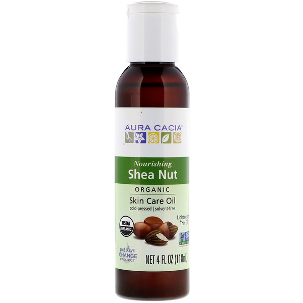 Aura Cacia, Organic, Skin Care Oil, Shea Nut, 4 fl oz (118 ml) (Discontinued Item)
