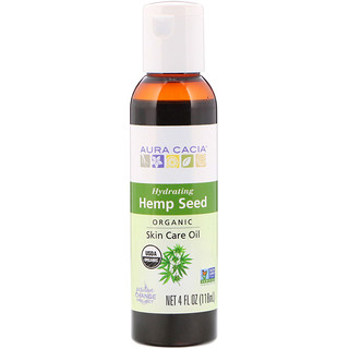 Aura Cacia, Organic, Skin Care Oil, Hemp Seed, 4 fl oz (118 ml)