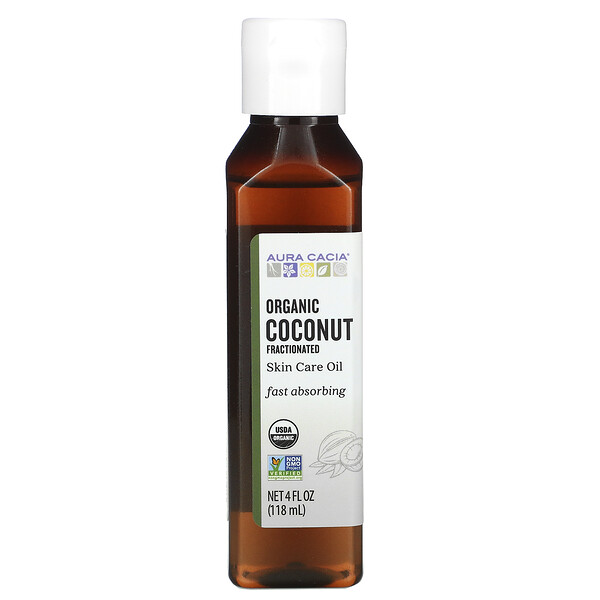 Aceite orgánico para el cuidado de la piel, aceite de coco fraccionado, 118ml (4oz.líq.)
