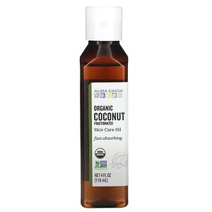 Аура Кация, Organic Skin Care Oil, Coconut, Fractionated, 4 fl oz (118 ml) отзывы покупателей