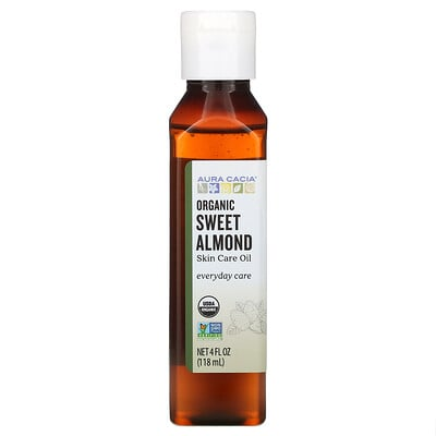 Купить Aura Cacia Organic, Skin Care Oil, Sweet Almond, 4 fl oz (118 ml)