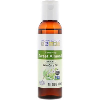 Купить Натуральное масло для кожи, с питательным сладким миндалем, 4 жидких унции (118 мл)