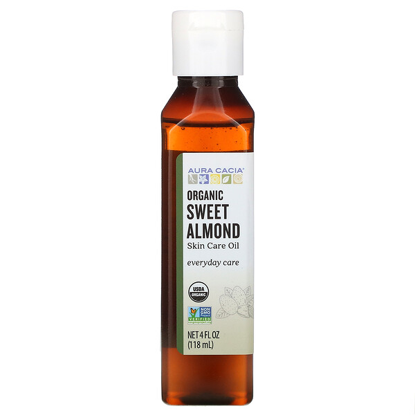 Organic, Skin Care Oil, Sweet Almond, 4 fl oz (118 ml)