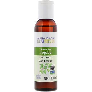 Aura Cacia, Organic, Skin Care Oil, Balancing Jojoba, 4 fl oz (118 ml)