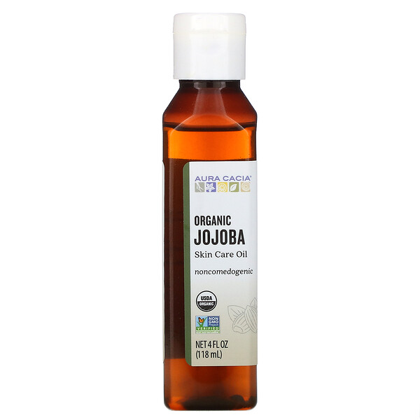 Organic Skin Care Oil, Jojoba, 4 fl oz (118 ml)
