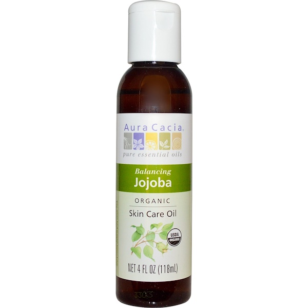 Aura Cacia, Organic, Skin Care Oil, Balancing Jojoba, 4 fl oz (118ml)