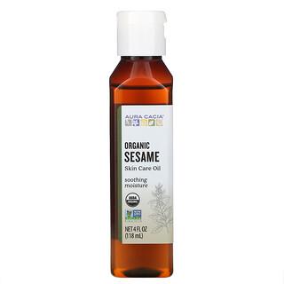 Aura Cacia, Organic Skin Care Oil, Sesame, 4 fl oz (118  ml)