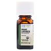 Aura Cacia, Pure Essential Oil, Organic Lavender, 0.25 fl oz (7.4 ml)