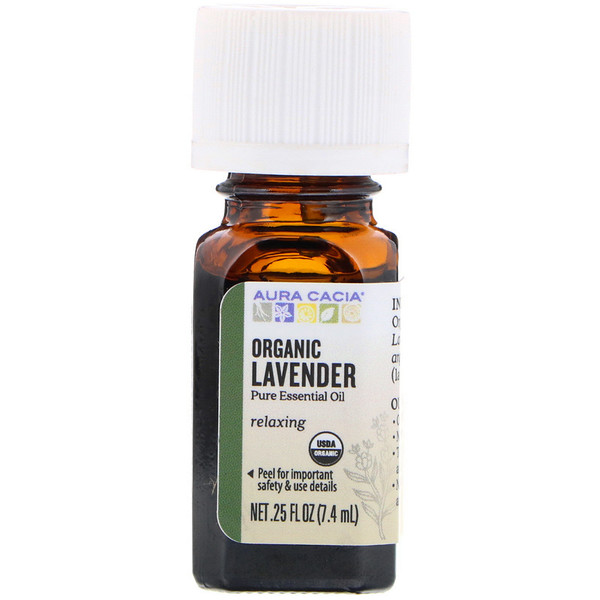 Pure Essential Oil, Organic Lavender, .25 fl oz (7.4 ml)