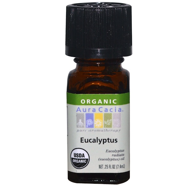 Aura Cacia, Organic, Eucalyptus, 0.25 fl oz (7.4 ml)