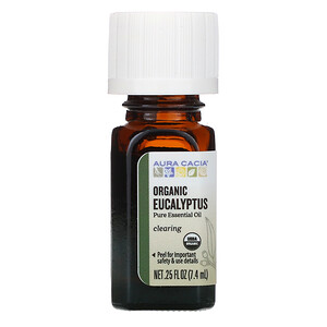 Аура Кация, Pure Essential Oil, Organic Eucalyptus, .25 fl oz (7.4 ml) отзывы покупателей