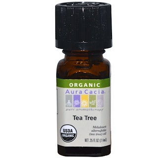 Aura Cacia, Organic、Tea Tree、0.25 fl oz (7.4 ml)