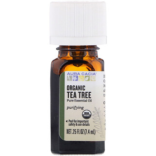 Aura Cacia, Organic Tea Tree, 0.25 fl oz (7.4 ml)