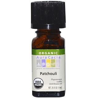 Aura Cacia, Organic, Patchouli, .25 fl oz (7.4 ml)