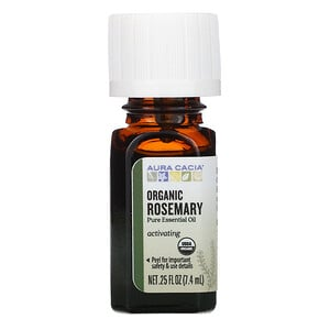 Аура Кация, Pure Essential Oil, Organic Rosemary, .25 fl oz (7.4 ml) отзывы покупателей