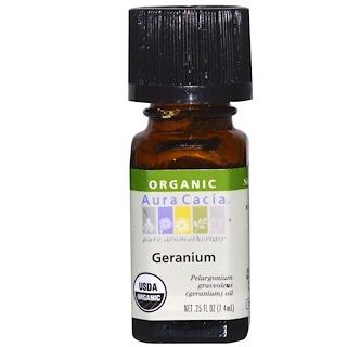 Aura Cacia, Orgánico, Geranio, .25 fl oz (7.4 ml)