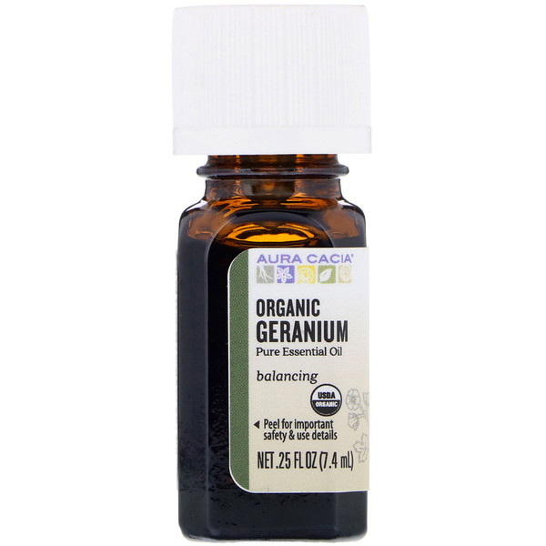 Organic Geranium, .25 fl oz (7.4 ml)