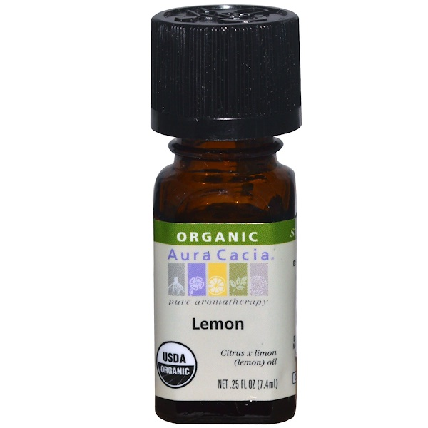 Aura Cacia, Organic, Lemon, .25 fl oz (7.4 ml)