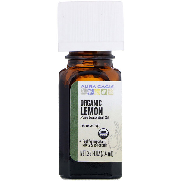 Organic Lemon, .25 fl oz (7.4 ml)