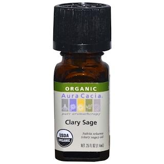 Aura Cacia, Organic, Clary Sage, .25 fl oz (7.4 ml)
